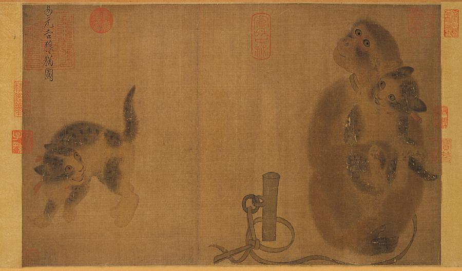 最先他工画花鸟,后来看到了另一位北宋善画花果名家赵昌(活动于十一