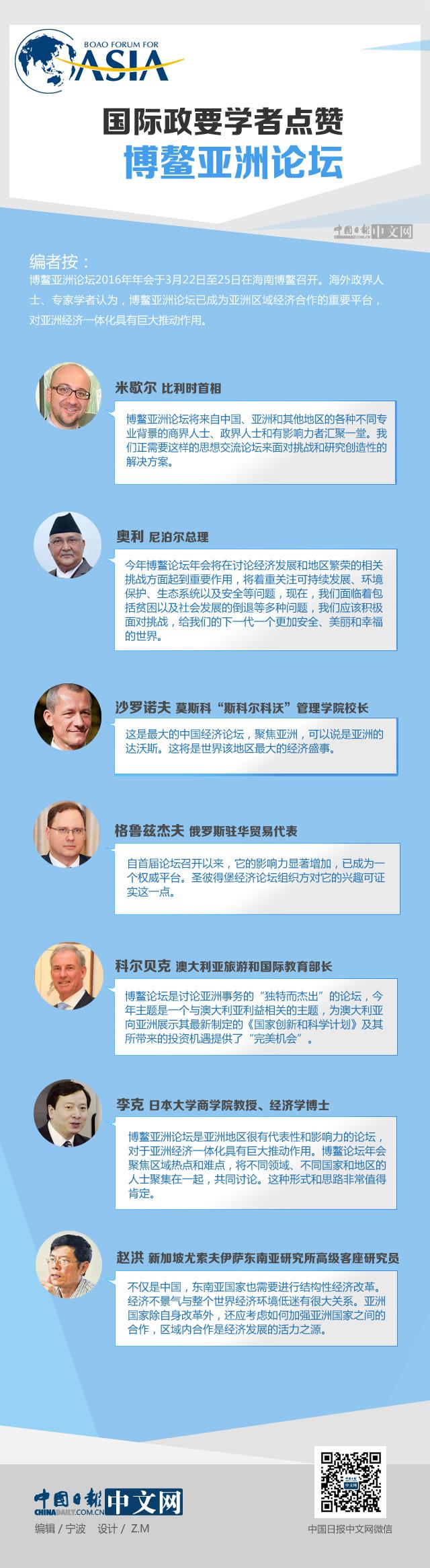 国际政要学者点赞博鳌亚洲论坛