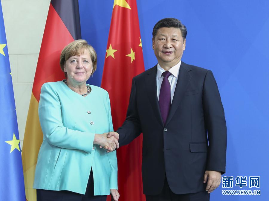 习近平同德国总理默克尔举行会谈