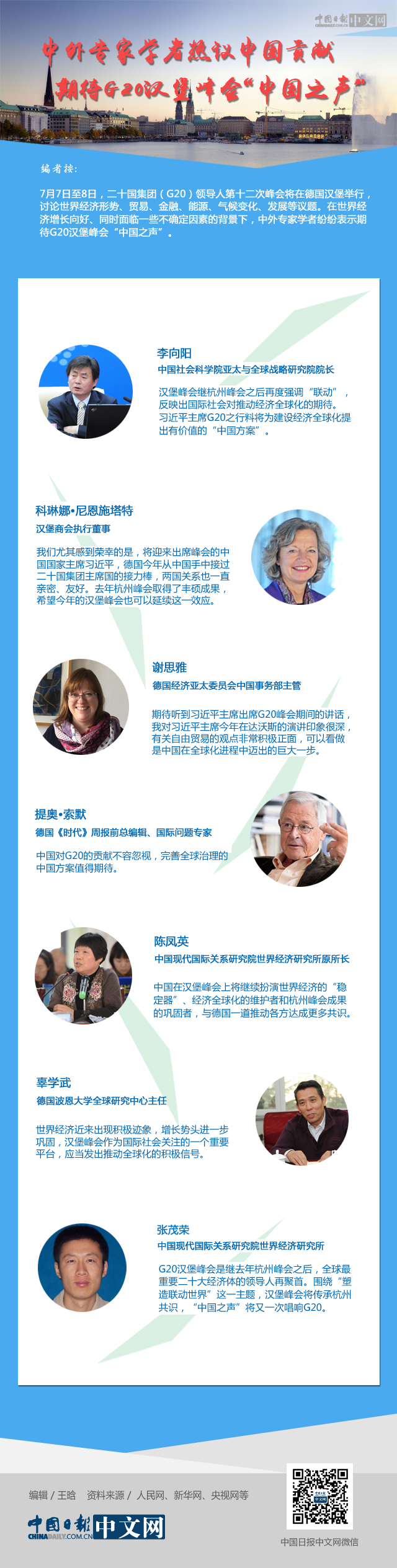 """中外专家学者热议中国贡献 期待G20汉堡峰会""""中国之声"""""""