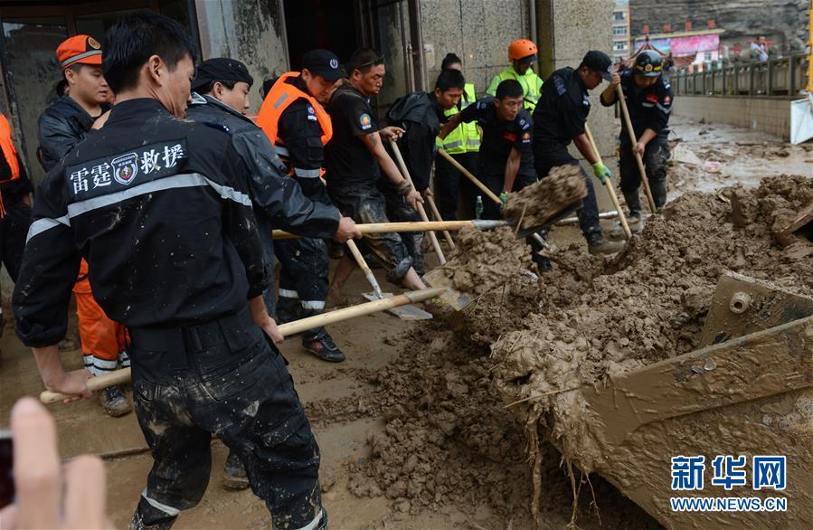陕西绥德:灾后救援有序展开