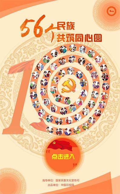 H5 | 56个民族点赞十九大 共筑同心圆