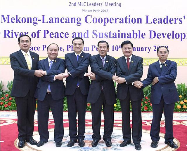 李克强出席澜沧江-湄公河合作第二次领导人会议