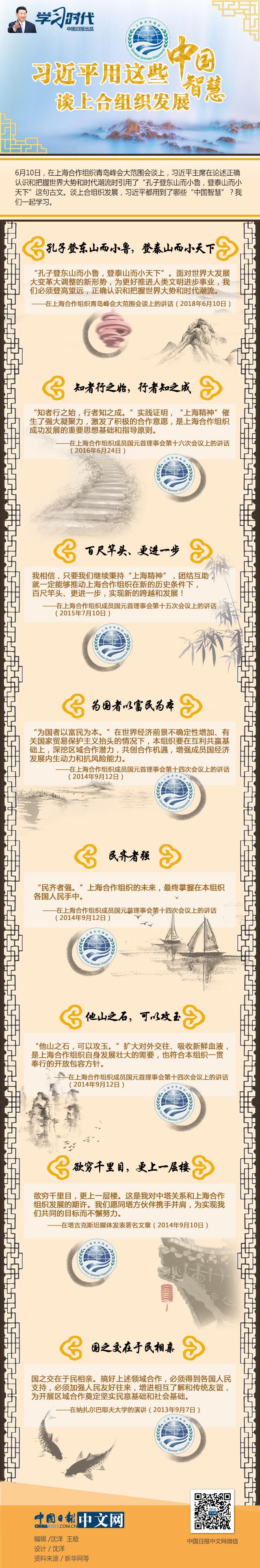 习近平用这些中国智慧谈上合组织发展