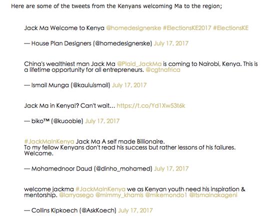 """马云在非洲也霸屏:肯尼亚社交媒体已进入""""马云时间"""""""