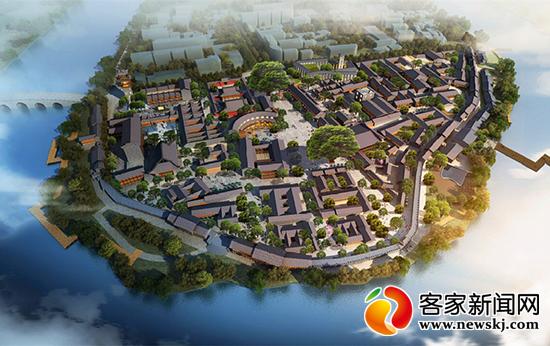 会昌县城街道地图